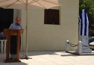 «Ο  Πρόεδρος της Επιστημονικής εταιρείας Καλαβρυτινών Ιατρών ΜΕΛΑΜΠΟΥΣ ιατρός κ Ζηρογιάννης απευθύνει χαιρετισμό»