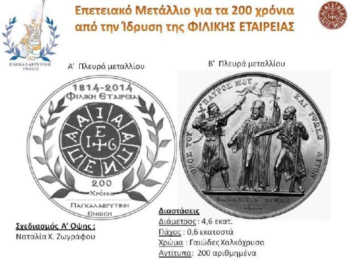 ΕΚΔΗΛΩΣΗ ΠΑΓΚΑΛΑΒΡΥΤΙΝΗΣ 14 9 2014 Παρουσίαση μεταλλίου