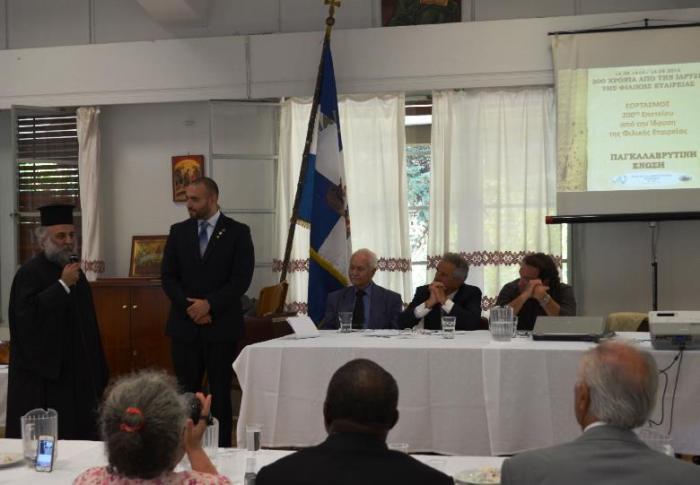 Ο κ Δημήτριος Khoury, πρόεδρος των Ελληνορθοδόξων Λιβάνου, απευθύνει χαιρετισμό